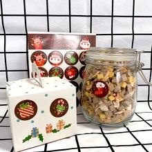 1600 adet/grup Kawaii Merry Christmas noel baba geyik yuvarlak DIY kendinden yapışkanlı sızdırmazlık dekoratif hediye etiket hediye etiketi toptan