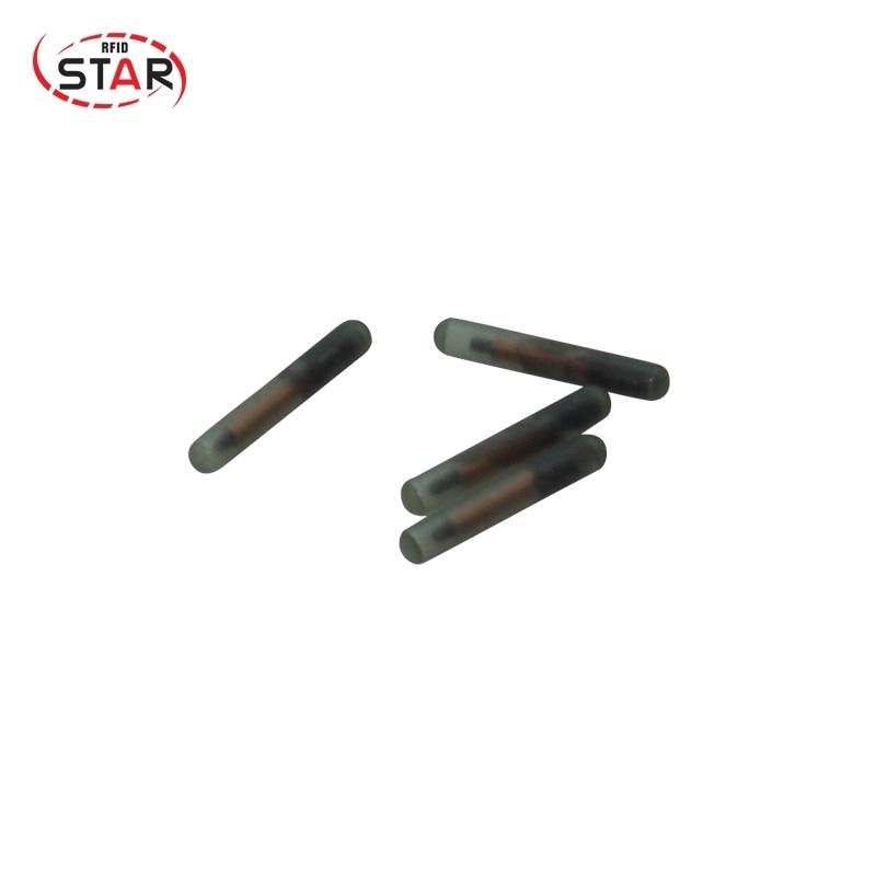 Free Shipping 30pcs RFID 134.2KHz EM4305 1.4*8mm FDX-B Animal Rfid Glass Capsule Dog Tag