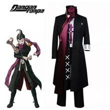 Anime Danganronpa 2 Gundham Tanaka Cosplay Costumes Coat Pants Sarf Uniform Wigs Hair Shoes Cos Full Set For Men Boys Halloween