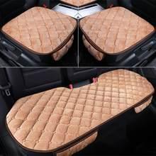 Housse de siège de voiture en tissu de lin, tapis de protection respirant pour les quatre saisons, coussin avant et arrière, accessoires automobiles