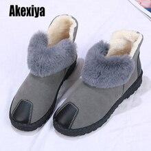 Модные женские зимние сапоги на толстом меху женские замшевые сапоги с круглым носком на плоской подошве с высоким берцем зимние сапоги с вышивкой Большие размеры k984