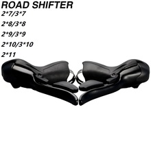 Road Bike STI Shifter Set Double 2x7 3x7 Speed 7s 14s 21s 7 Speed Brake Levers Compatible for Shimano Sram microshift sb r472 double 2x7 speed shifters sb r473 trip 3x7 shift lever road bike part derailleurs compatible for shimano page 9