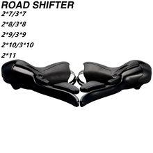Bicicleta de estrada sti shifter conjunto duplo 2x7 3x7 velocidade 7 s 14s 21s 7 alavancas freio velocidade compatível para shimano sram