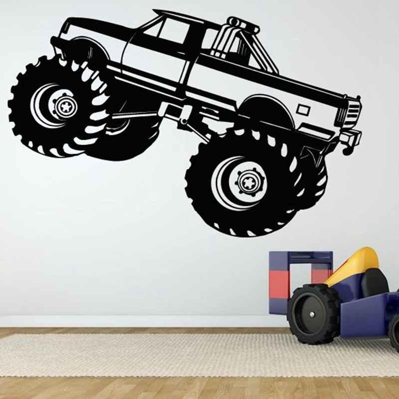 Tout-terrain 4x4 voiture autocollant véhicule décalcomanie voitures classiques affiches vinyle stickers muraux décoration de la maison décor Mural SUV pick-up voiture autocollant