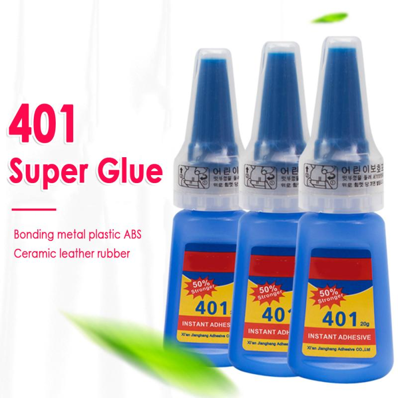 401 Multi-propósito Super pegamento instantáneo pegamento rápido pegamento 20g botella para artesanía DIY TSLM1