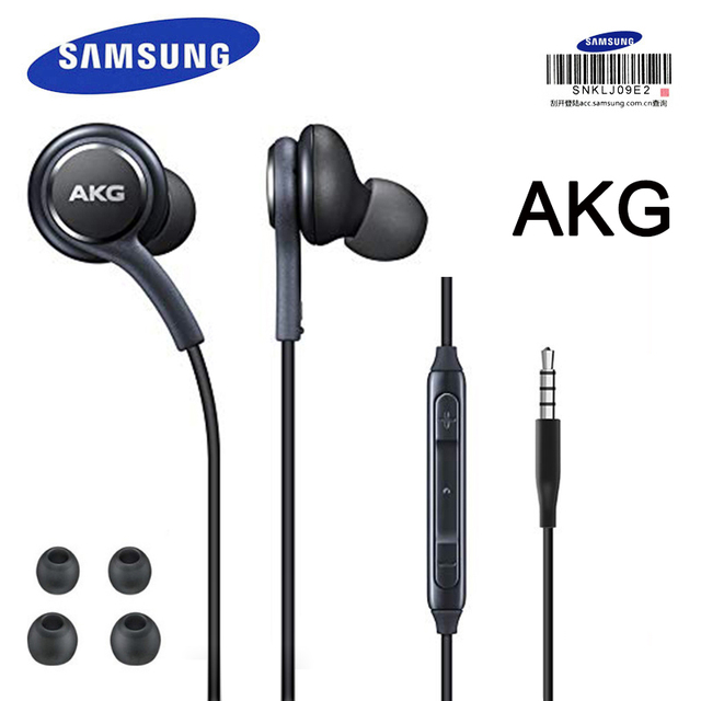 SAMSUNG AKG kopfhörer In line Control mit Mic 3,5mm Wired Kopfhörer Musik Headset Sport Headset S10 S9 S8 smart Handys