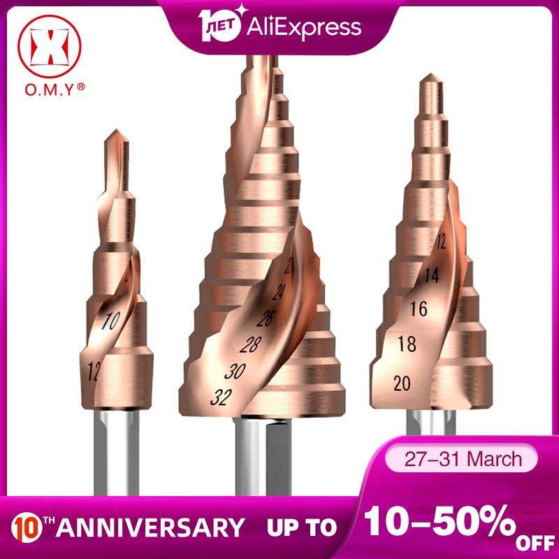 M35 Cobalt Step Drill 4-12/4-20/4-32mm High Speed Steel Drill Bits Spiral Groove Triangle Shank For Stainless Steel