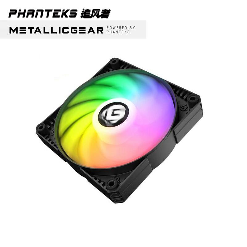 PHANTEKS MG SKIRON BLACK RGB Colorful LED Rainbow 12cm 14cm Fan Support Sync Motherboard  ASUS MSI ASROCK Z390 GIGABYTE 4PIN PWM