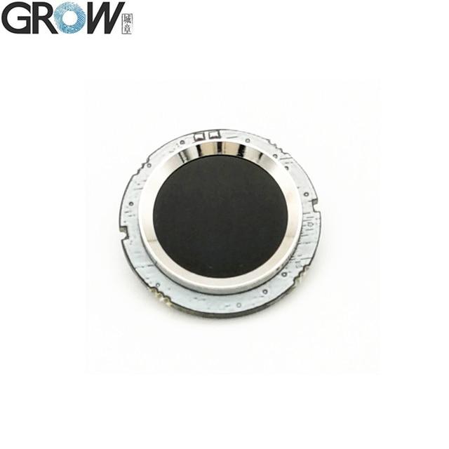 GROW R502 DC3.3V mała okrągła niebieska czerwona dioda LED MX1.0 6pin pojemnościowa kontrola dostępu za pomocą odcisków palców czujnik modułu skanera