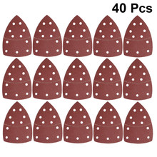 40 PCS 11 Lubang Self-Adhesive Amplas Segitiga Sander Kertas HOOK LOOP Sanding Disc Abrasive Tools untuk Polishing 40/60/80/120/180(China)