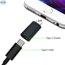 YuXi USB C Female to IOS Male Adapter for iphone X XR XS Max 8 7 6 6S Plus Type-c To 8pin Charging Sync Charger Cable Converter