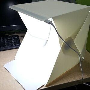 Image 3 - جديد المحمولة للطي صندوق الضوء التصوير مصباح ليد غرفة صور إضاءة الاستوديو خيمة لينة صندوق الخلفيات للكاميرا DSLR