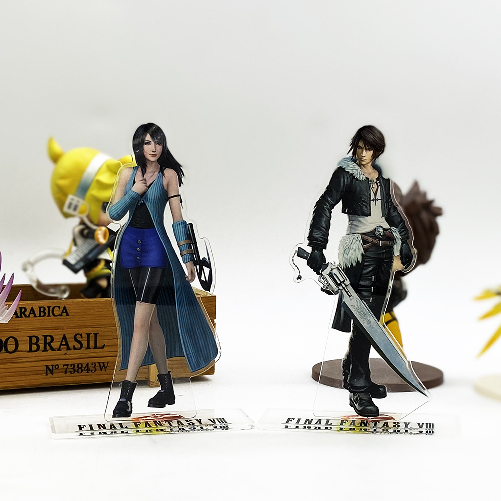 Final Fantasy FF Ⅷ 8 Squall Rinoa Acrylic Stand Figure Model Plate Holder Cake Topper Anime Cool
