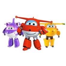 חדש הגעה גדול 15cm ABS סופר כנפי עיוות מטוס רובוט שינוי פעולה דמויות צעצועים לילדים מתנת Brinquedos