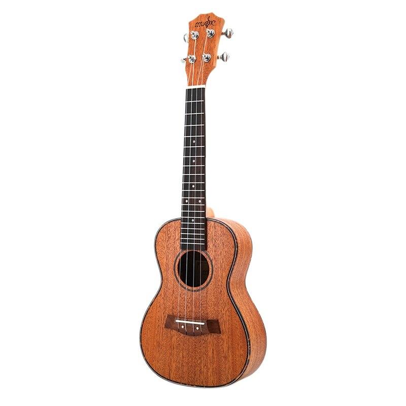 Kits ukulélé de Concert 23 pouces guitare Uku 4 cordes en acajou avec accordeur de sac