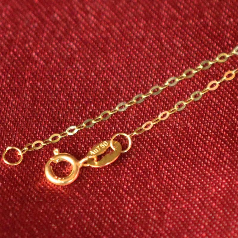 ZHIXI genuine 60cm 18K gold chain gold jewelry AU750 fashion exquisite fashion women's necklace D206-60