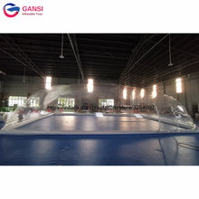 Durable transparent inflatable bubble poor cover tent inflatable pool dome tent for swimming pool cover outdoor camping transparent inflatable bubble tent pvc inflatable dome tent clear tent inflatable