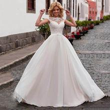 2020 свадебное платье кружевные платья с аппликацией для невесты