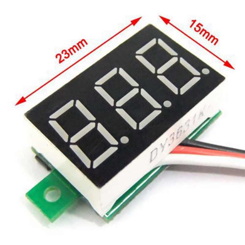 """1 Pcs Digital โวลต์มิเตอร์จอแสดงผล LED MINI 2/3 สายไฟแรงดันไฟฟ้าแอมป์มิเตอร์ความแม่นยำสูงสีแดง/สีเขียว/สีฟ้า DC 0V-30V 0.36"""""""