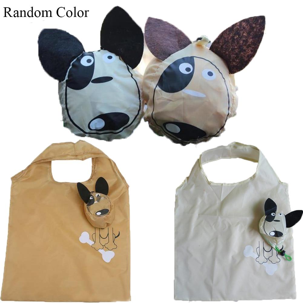 New Bags Animal Prints Cute Grocery Travel Foldable Handbag Tote Storage Shopping Bags Reusable Flower Animal Shopping Bags