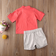 2020 Baby Boys Clothing Set Toddler Newborn Kids Clothes T-shirt Tops+Short Pants Solid 2Pcs Summer Outfits
