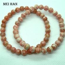 Meihan (54 pcs/27 גרם\סט) 6.3 6.8mm + טבעי ארגנטינה Rhodochrosite החרוזים העגול עבור jwelry ביצוע