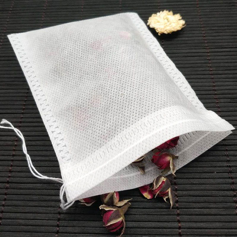 200pcs 6x8cm Teabags Empty Scented Tea Bags With Strings Seal Filter Reusable Tea Bag For Herb Spice Loose Coffee Pouches Tools