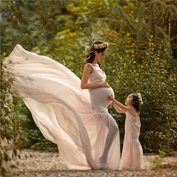 Long Bottom Train Sexy Pregnany Dress for Photo Shoots Mommy and Me Outfits Oversized Maternity Wear Maternity Gown Hot Mama