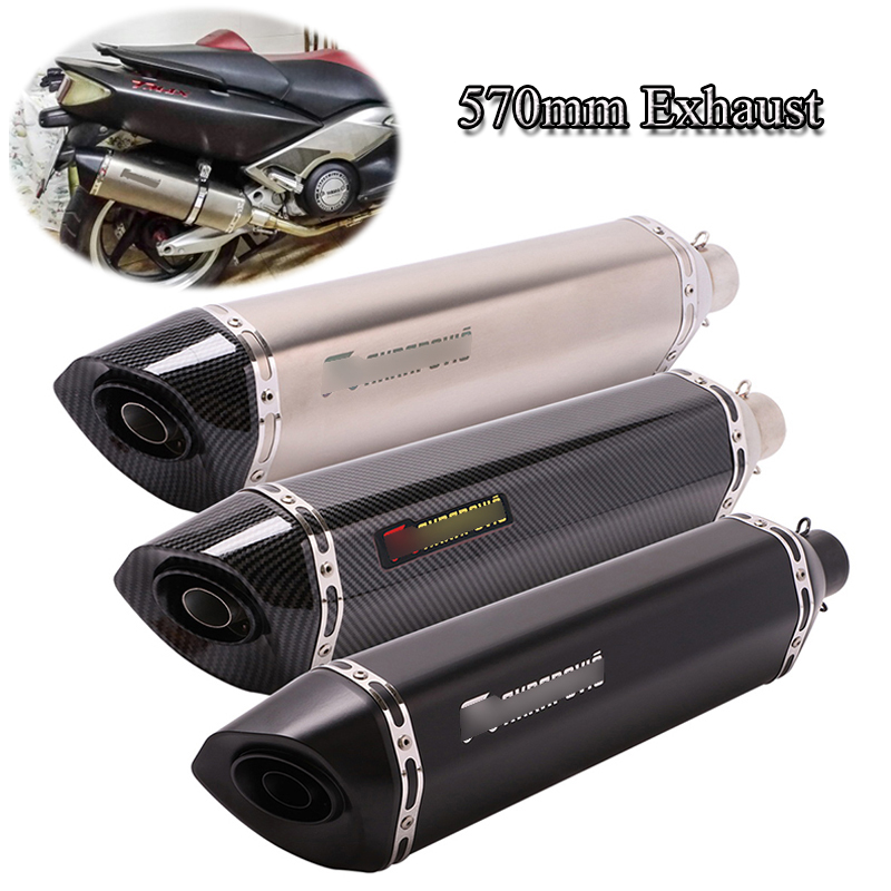 51mm universal exhaust silencer tip pipe motorcycle muffler exhaust tail pipe with db killer street bike exhaust modified escape