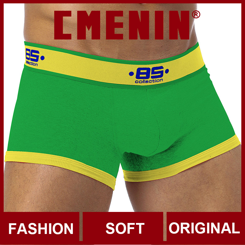 Boxer For Men BS Cotton Patchwork Quick Dry Sexy Men Underwear Boxer Shorts Fashion Lingeries Mens Boxershorts Underware Boxers