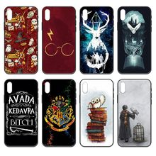Harries Potter luxus Etui coque schwarz Telefon fall abdeckung hull Für iphone 4 4s 5 5S SE 5C 6 6S 7 8 plus X XS XR 11 PRO MAX 2020(China)