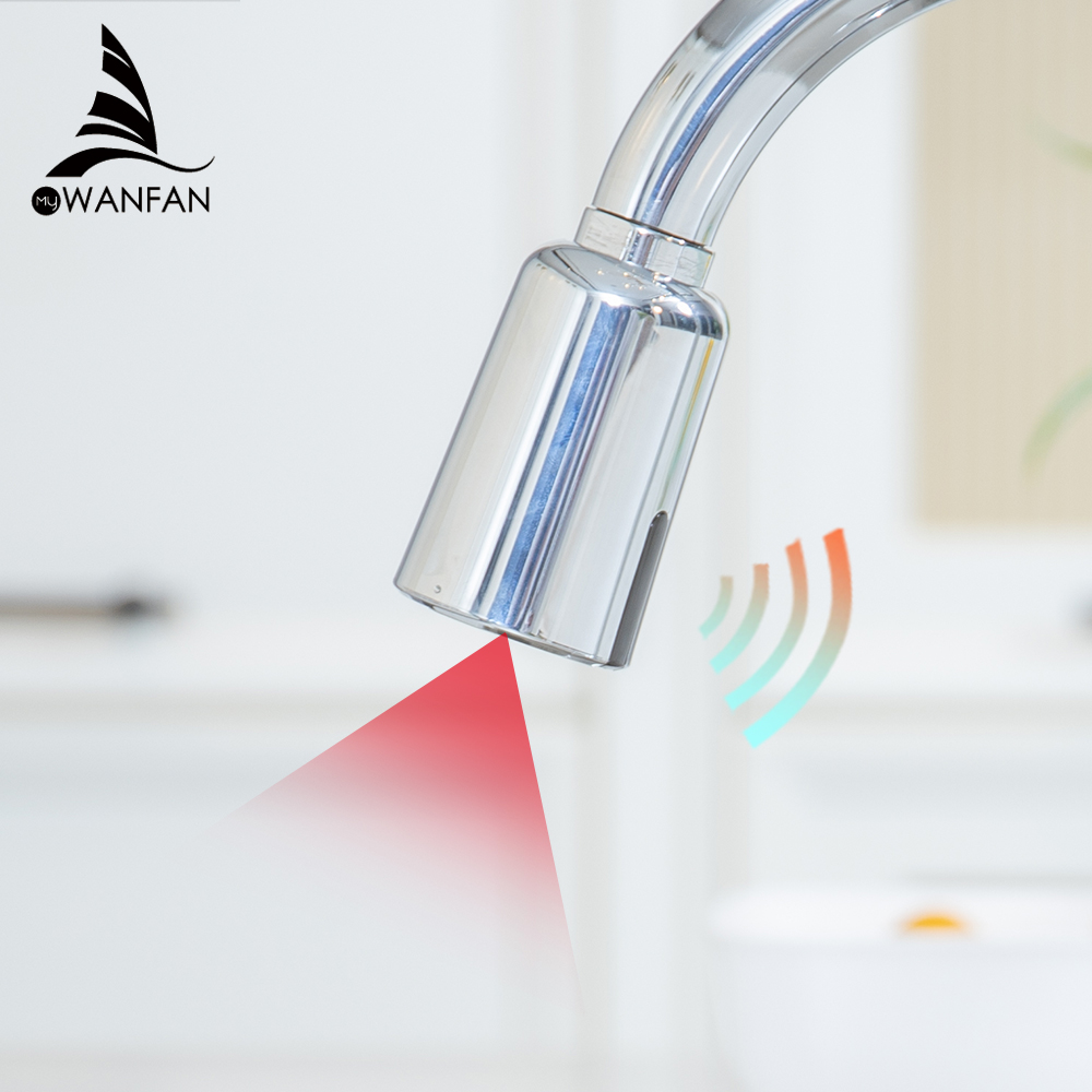 Kitchen Faucet Accessories Touch On Normal Kitchen Faucet ABS Smart Sensor Chrome Silver Sink Fashion Spray Spout WF-2022