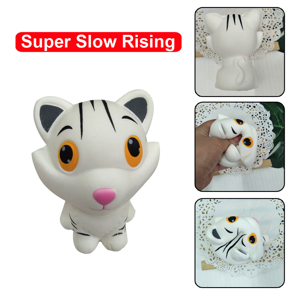 Simulation Tiger Animal Squeeze Toy Adorable Tiger Slow Rising Cream Scented Stress Relief Funny Toys For Kids  L0110