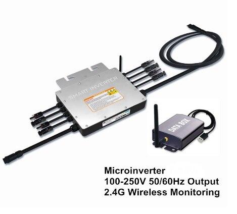 1000 Вт 1200 Вт 1400 Вт Инвертор солнечной энергии, 18-50VDC к AC 110/220 в микро инвертор связи солнечной сетки или 2,4G беспроводной монитор
