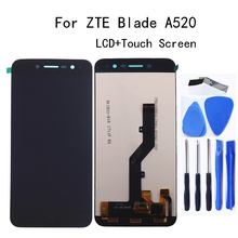 5.0-inch For zte blade A520 LCD display+Touch Screen digitizer replacement Accessories For zte blade A520 lcd display Repair kit new 5 inch full lcd display touch screen digitizer assembly replacement for zte blade x5 blade d3 t630 free shipping
