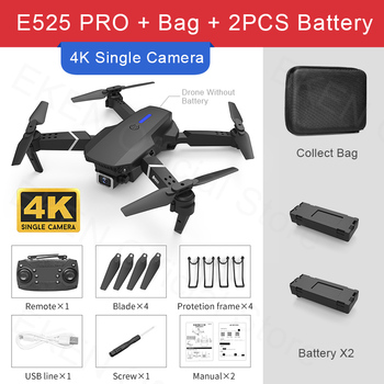 E525 PRO RC Quadcopter Profissional Obstacle Avoidance Drone Dual Camera 1080P 4K Fixed Height Mini Dron Helicopter Toy 22
