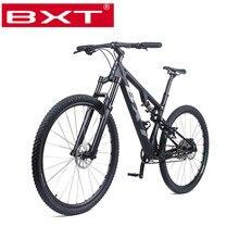 New Mountain Bike 29er Carbon Fiber Frame MTB Bicycle Full Suspension Complete B