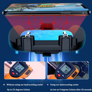 Image 4 - Freezing pubg controller gamepad cooler for mobile phone game shooter for iphone android L1R1 joystick pubg controller with fan