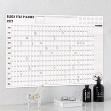 Calendar-Year-Planner Mark-Stickers Plan-Paper Office-Supply Wall Daily 2-Sheet School
