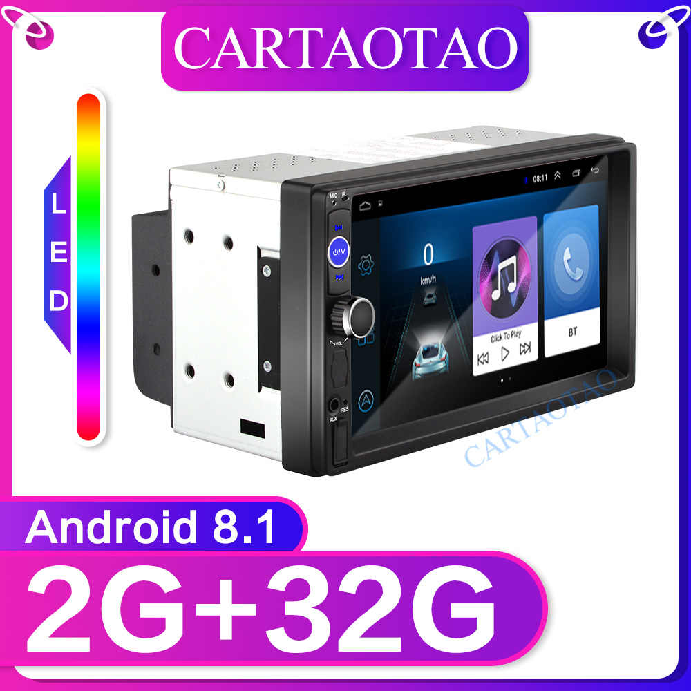 "RAM 2G+ROM 32G 2din Android 8.1 Universal Car Multimedia Player Autoradio Stereo 7""Touch Screen Video MP5 Player Auto Radio GPS"