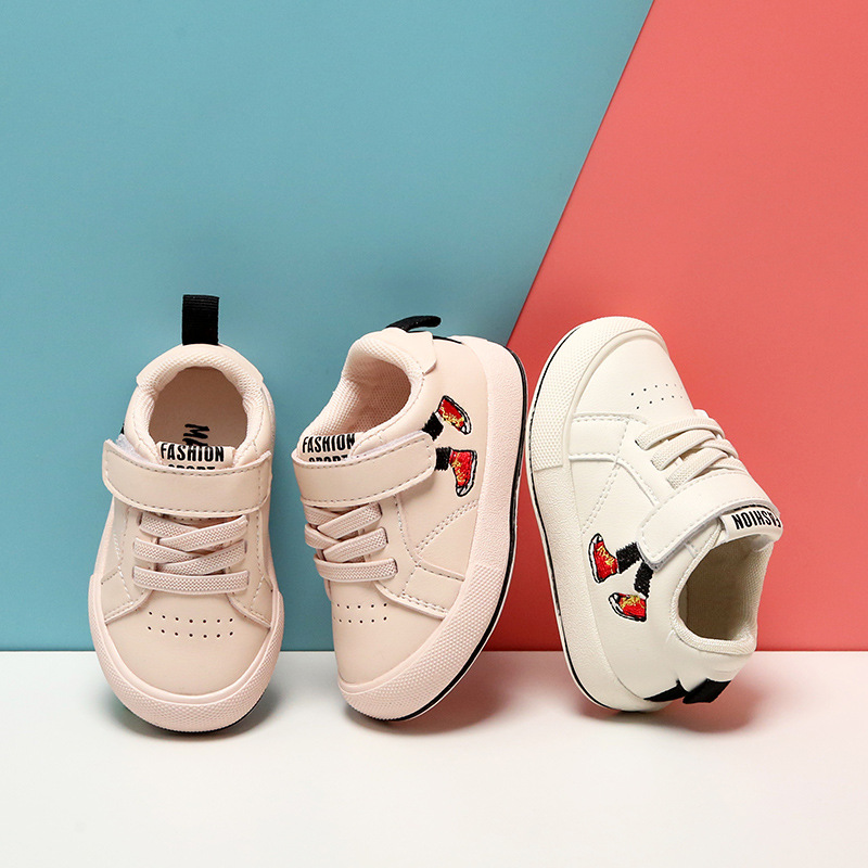 Baby Shoes 0-2 Years Old Toddler Sports Shoes Spring And Autumn Toddler Shoes Children  Breathable Leather Shoes