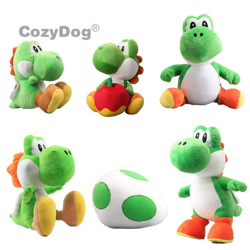6 Styles Mario Yoshi Plush Toys Doll Yoshi Egg Yoshi With Apple Stuffed Animals Toys Baby Kids Christmas Birthday Gift