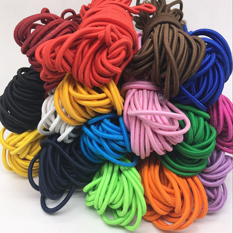 AIJJU 20m*3mm Colorful High-Quality Round Elastic Band Round Elastic Rope Rubber Band Elastic Line DIY Sewing Accessories