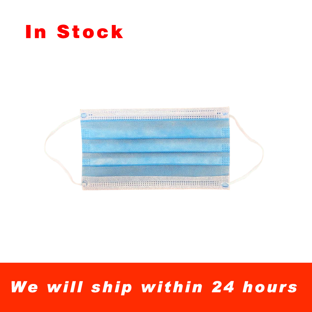 500 Pieces Of Disposable Protective Packaging In A Mask With 3 Layers Of Meltblown, Breathable And Anti-fog Dust