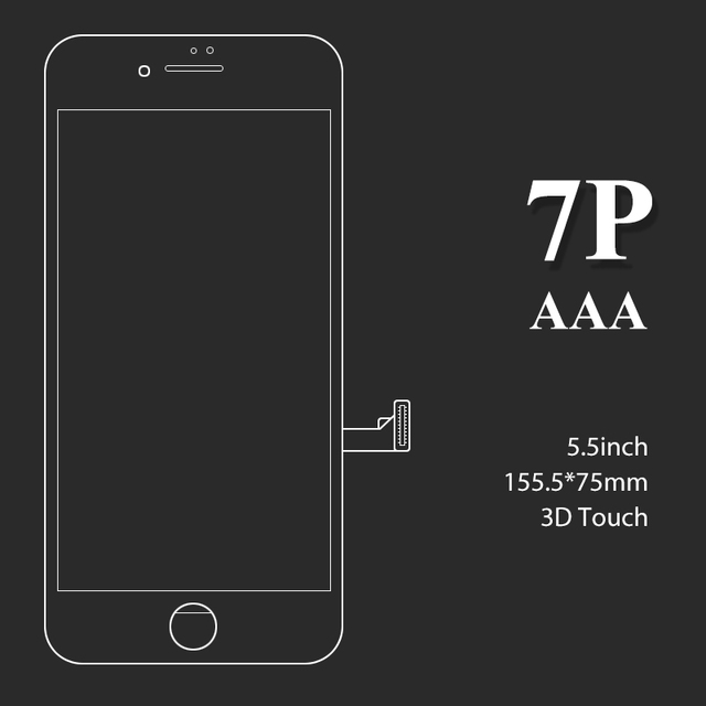 10/Pcs For iPhone 7 plus LCD AAA quality Replacement Digitizer Touch Display Screen Assembly for mobile phone lcd screen