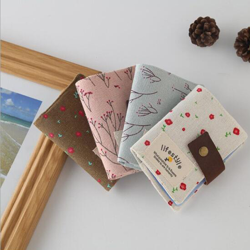 Floral Credit Card Holder Fashion Women ID Business Bank Card Wallet Cash Holder Canvas 20 Pcs Credit Card Holder Bag PA840075