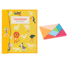 Puzzles Children Toy Educational Colorful Kids Magnetic for Birthday-Gifts Tangram