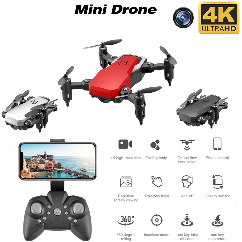 Mini Drone LF606 4K HD Camera Foldable Quadcopter One-Key Return FPV Drones Follow Me RC Helicopter Quadrocopter Kid's Toys 2