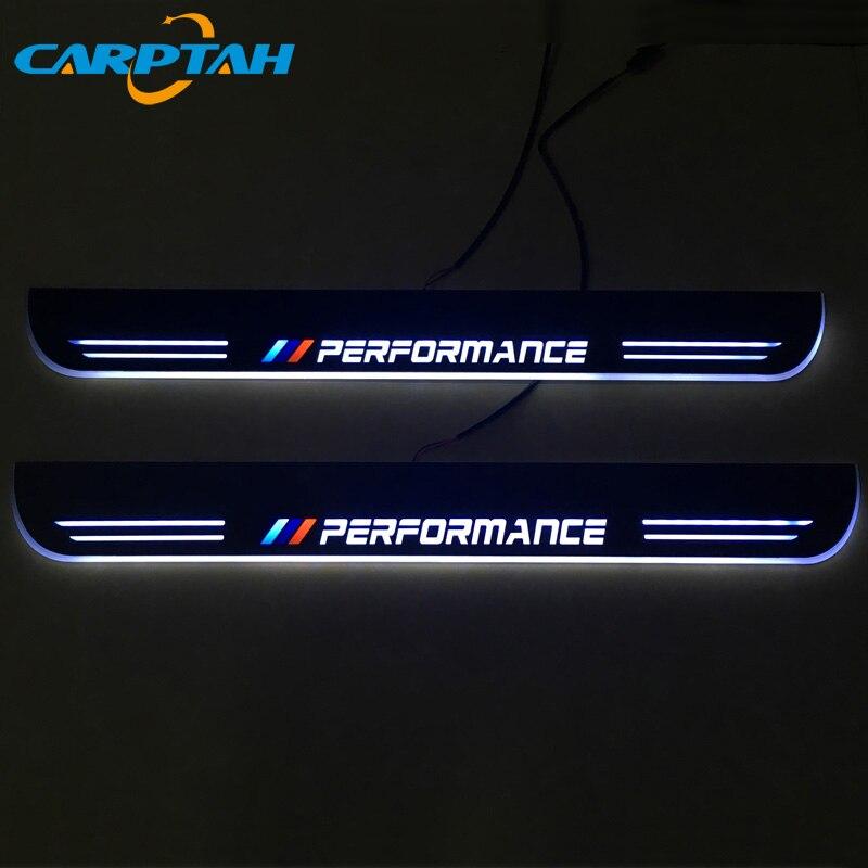 CARPTAH Trim Pedal Car Exterior Parts LED Door Sill Scuff Plate Pathway Dynamic Streamer light For BMW Z4 E85 E86 E89 2004-2013