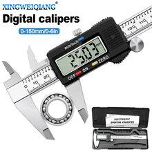 Paquímetro, 6 Polegada 0-150mm ferramenta de medição de aço inoxidável paquímetro digital vernier caliper